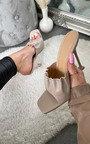 Claudia Ruched Square Toe Heels Thumbnail