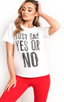 Clio Pearl Embellished Slogan T-Shirt Thumbnail