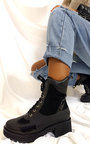 Coco Chunky Heeled Ankle Boots Thumbnail