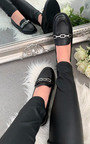 Coco Faux Leather Loafer Flats Thumbnail