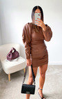 Colette Faux Leather Mini Dress Thumbnail