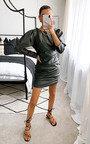Colette Faux Leather Mini Dress Thumbnail