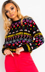 Comet Classic Printed Christmas Jumper Thumbnail