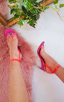 Connie Barely There Perspex Heels  Thumbnail
