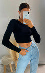 Cora Ribbed Crop Top Thumbnail