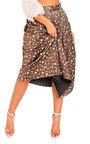 Cora Shimmer Pleated Hearts Midi Skirt Thumbnail