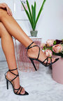 Cora Strappy Patent Pointed High Heels  Thumbnail