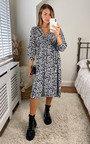 Corale Printed Midi Shirt Dress Thumbnail