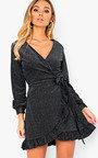 Coralie Velvet Shimmer Wrap Dress Thumbnail