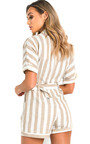 Corrie Oversized Tie Waist Striped Playsuit  Thumbnail