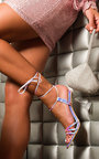 Court Tie Up Perspex Heels Thumbnail