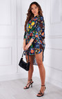 Daffney All Over Printed Oversized Shirt Dress Thumbnail