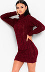 Daffney Chunky Knit Long Sleeved Jumper Dress Thumbnail