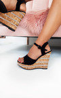Daffney Diamante Cork Wedged Heel Thumbnail