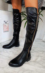 Daffney Zip Knee High Boots Thumbnail