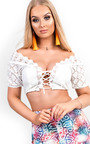 Daisey Crochet Lace Up Crop Top Thumbnail