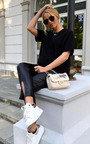 Daisy Pearl & Bow Embellished Tweed Shoulder Bag Thumbnail