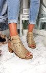 Daisy Studded Peep Toe Sandal Thumbnail