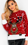 Dancer Reindeer Christmas Jumper Thumbnail