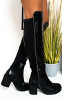 Kady Faux Leather Knee High Boots Thumbnail