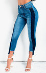 Delilah Striped Slim Fit Jeans Thumbnail
