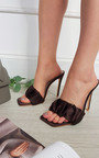 Danielle Satin Mule with Pleated Detail Thumbnail