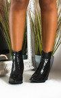 Danni Cowboy Block Heel Ankle Boots Thumbnail