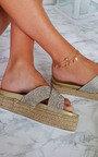Darcie Crossover Flatform Sandals Thumbnail