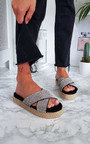 Darcie Crossover Flatform Sandals Thumbnail