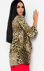 Darcie Leopard Long-Lined Blazer Jacket Thumbnail