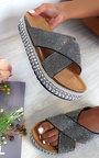 Darcie Woven Flatform Diamante Sandals Thumbnail