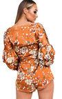 Daria Floral Ruffled Kimono Wrap Playsuit Thumbnail