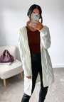 Davina Cable Knit Cardigan Thumbnail