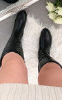 Davina Quilted Knee High Boots  Thumbnail