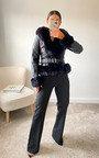 Debbie Faux Leather & Faux Fur Jacket Thumbnail