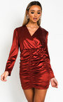 Deirdre Satin Mini Dress Thumbnail