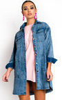 Demi Button Up Oversized Denim Dress Thumbnail