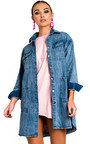Demi Button Up Oversized Denim Dress Thumbnail