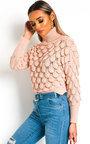 Denisa Crochet Style Knitted Jumper Thumbnail