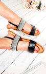 Derya Double Strapped Embellished Sandals  Thumbnail