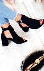 Dezi Buckle Peep Toe Ankle Boot Thumbnail