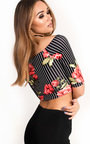 Dezi Floral Wrap Crop Top Thumbnail