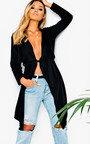 Diana Long-Sleeved Waterfall Coat Thumbnail