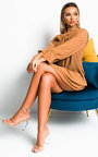 Dianna Pleated Bow Shift Dress Thumbnail