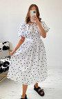 Didi Dotted Midi Dress Thumbnail