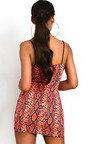 Dina Snake Print Mini Dress Thumbnail