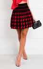 Dionne Two Tone Pleated Mini Skirt Thumbnail