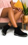 Dolly Faux Suede Diamante Chelsea Boots Thumbnail