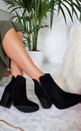 Dolly Faux Suede Pointed Boots Thumbnail