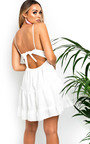 Dora Frill Crochet Backless Dress Thumbnail